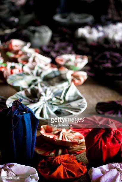 Various Furoshiki (Japanese cloth wrappings)
