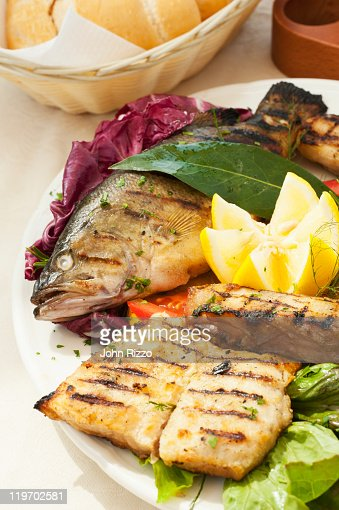 Various grilled trout : Stock-Foto