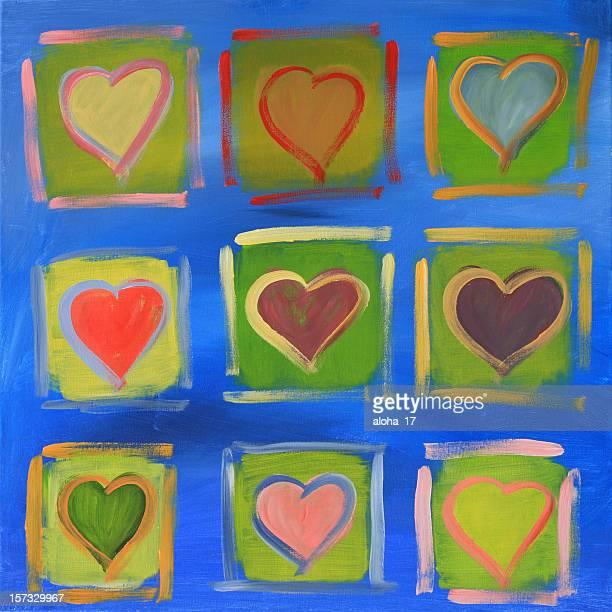 Verschiedene hearts