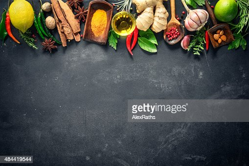 Various herbs and spices : Stock Photo