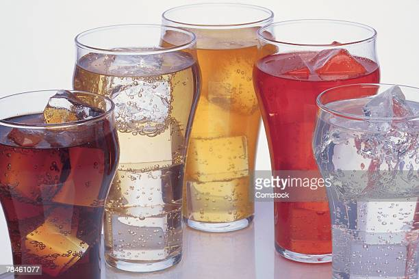 Various iced beverages