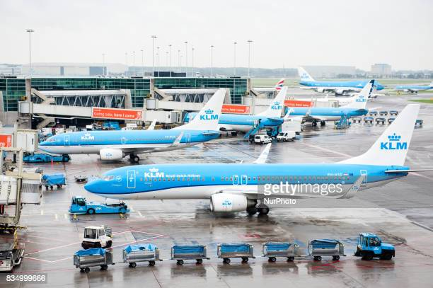 Various images at Schiphol Amsterdam Airport in Amsterdam Netherlands on 18 August 2017 Schiphol airport is massively crowded over the month Airlines...