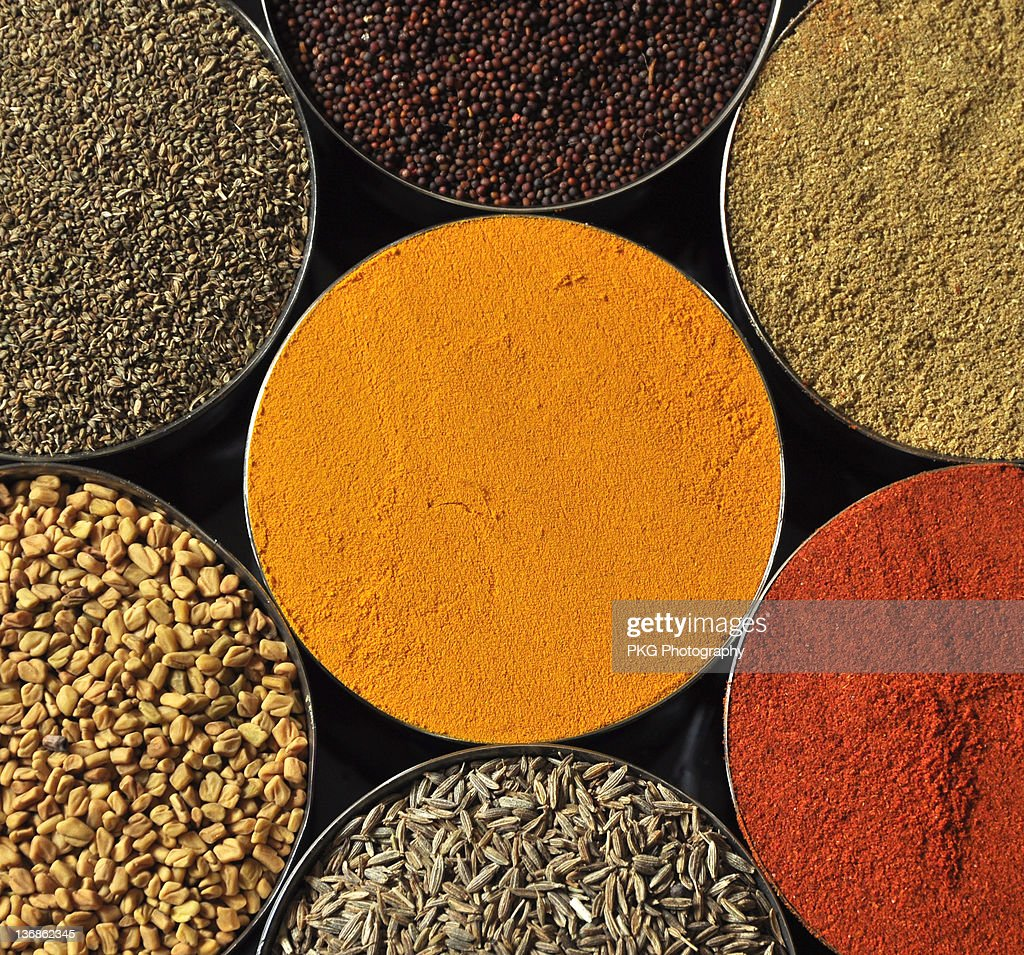 Various kind of spices : Stock Photo