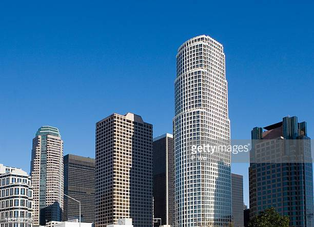 Various L.A. Skyscrapers standing tall in the sky