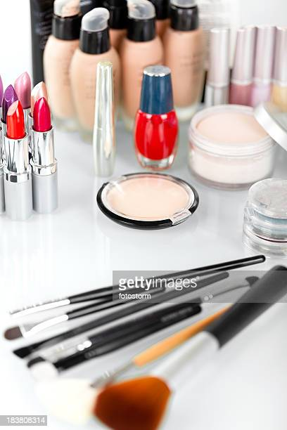 Various make-up and cosmetics products