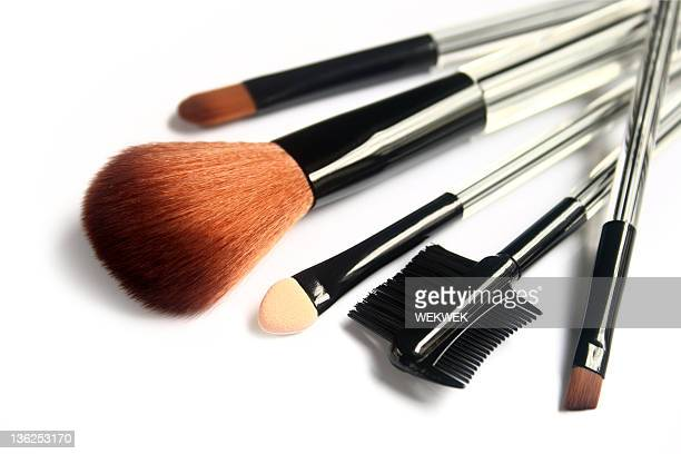 Various make-up brushes
