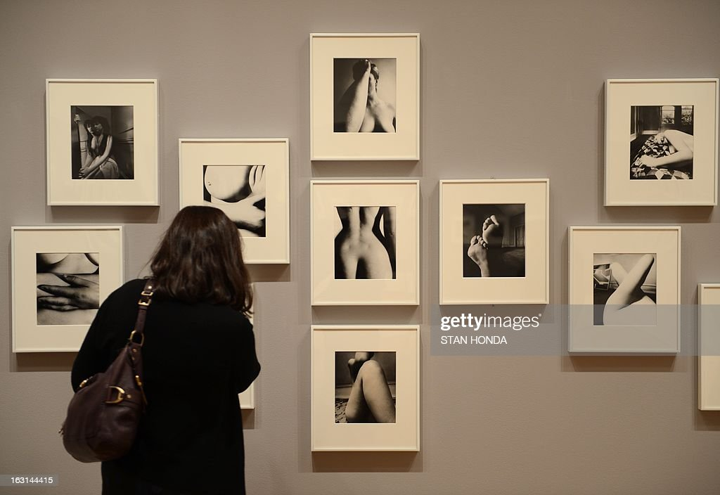 Various nudes by Bill Brant in the exhibition 'Bill Brandt: Shadow and Light' on view during a preview March 5, 2013 at the Museum of Modern Art in New York. AFP PHOTO/Stan HONDA