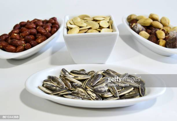 Various nuts on a table