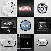 Various power buttons and switches