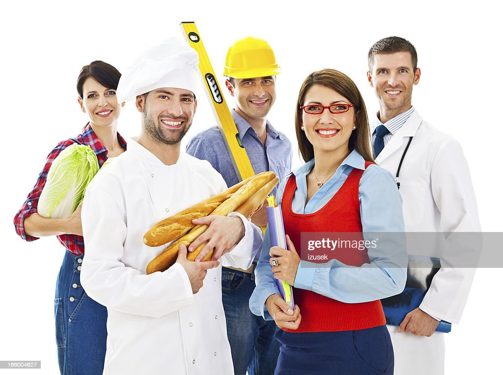 Various professions : Stock Photo