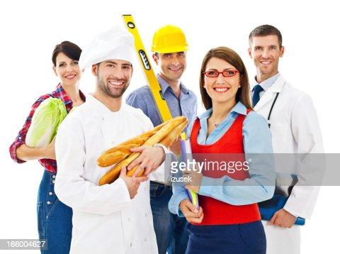 Différentes professions