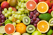 Various ripe fruits  for eating healthy