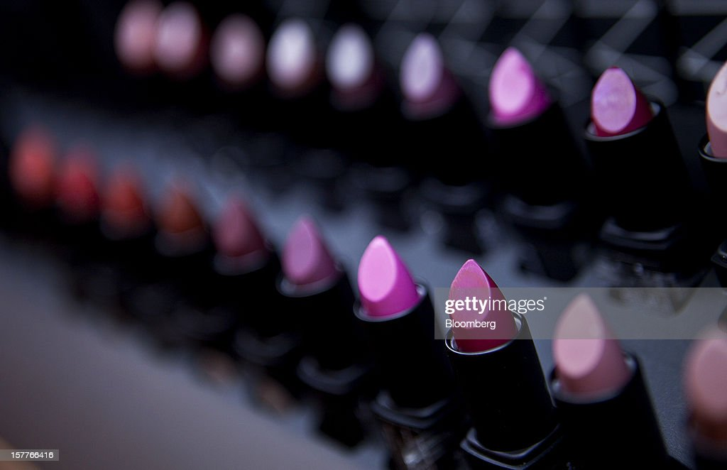 Various shades of lipstick sit on display during the opening of a Sephora SA store at the Riosul shopping mall in Rio de Janeiro, Brazil, on Wednesday, Dec. 5, 2012. Sephora SA, a French beauty product retail chain, opened its first Brazil location earlier this year in July. Photographer: Dado Galdieri/Bloomberg via Getty Images