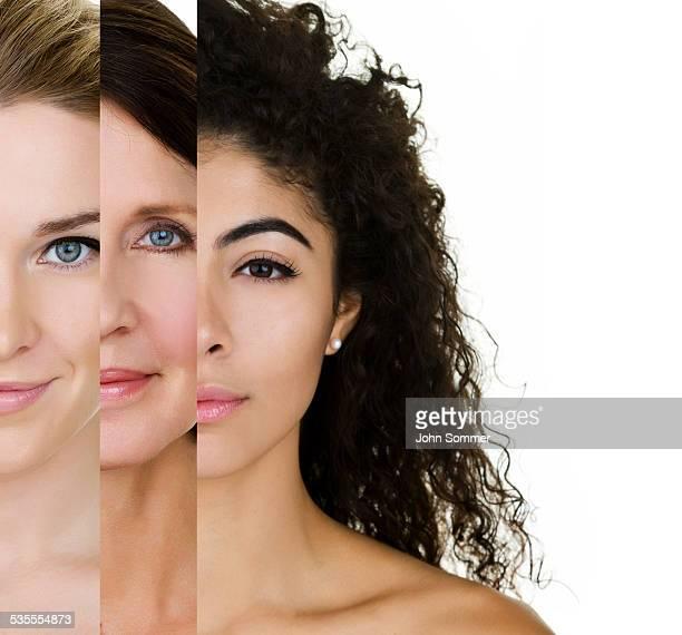 Verschiedene Hauttypen
