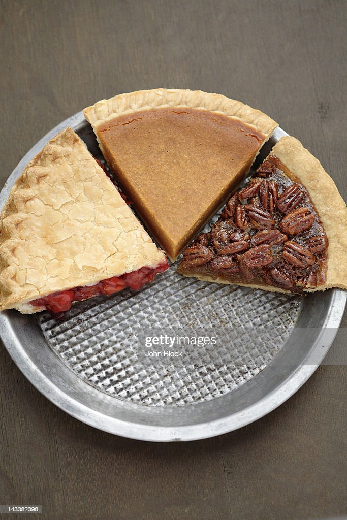 Various slices of fresh, homemade pies : Stock Photo