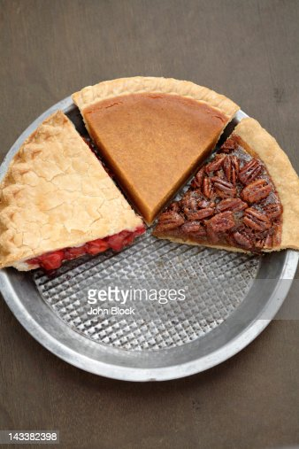 Various slices of fresh, homemade pies : Foto de stock
