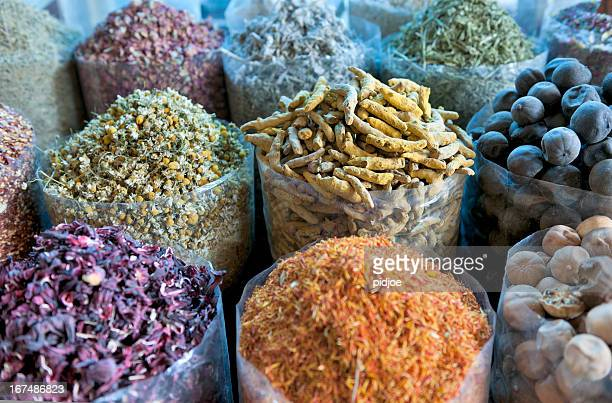 various spices at Spice Souk