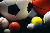 Various sporting balls