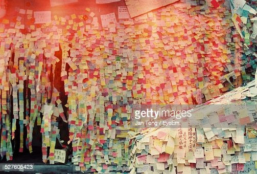 Various Sticky Notes On Wall