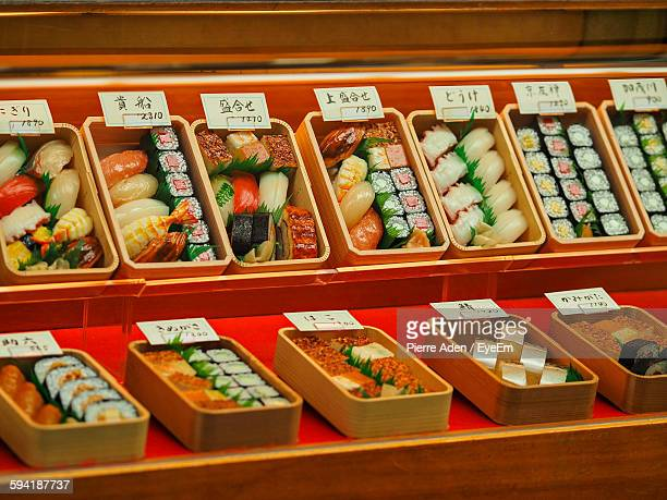 Various Sushi Boxes For Sale At Market