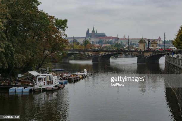 Various travel images of Prague the capital city of Czech Republic during the winter on a cloudy day Most of the shots are in the touristic center