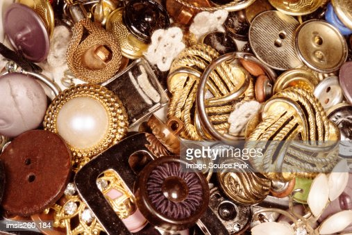 Various vintage buttons : Stock Photo