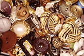 Various vintage buttons