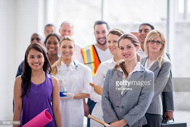 Various Working Professionals Standing Together