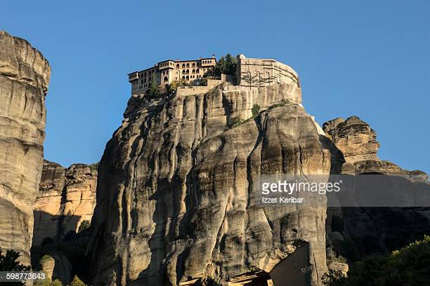 Varlaam Monastery seen from below,Meteora, Greece
