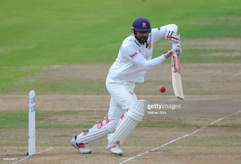 Varun Chopra of Essex batting during the County Championship Division One match between Warwickshire and Essex at Edgbaston on September 13, 2017 in Birmingham, England.