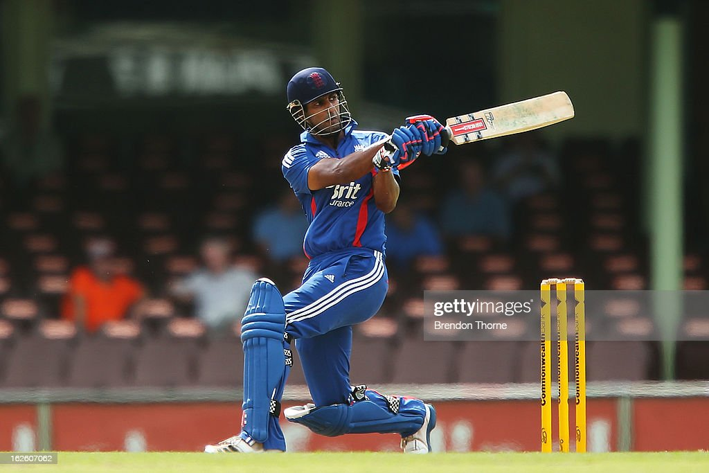 <a gi-track='captionPersonalityLinkClicked' href=/galleries/search?phrase=Varun+Chopra&family=editorial&specificpeople=734731 ng-click='$event.stopPropagation()'>Varun Chopra</a> of the Lions bats during the International Tour match between Australia 'A' and the England Lions at Sydney Cricket Ground on February 25, 2013 in Sydney, Australia.