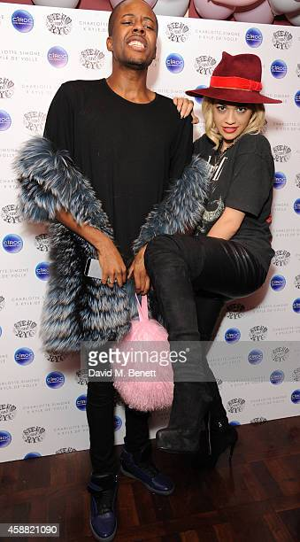 Vas J Morgan and Rita ora attend the Charlotte Simone x Kyle De'volle collection launch at Steam Rye on November 11 2014 in London England