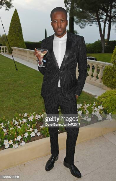 Vas J Morgan arrives at the amfAR Gala Cannes 2017 at Hotel du CapEdenRoc on May 25 2017 in Cap d'Antibes France