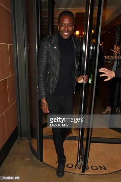 Vas J Morgan leaving C London restaurant on October 23 2017 in London England