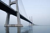 Vasco da Gama bridge, Tagus River.