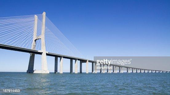 Vasco da Gama contemporary cable-stayed bridge