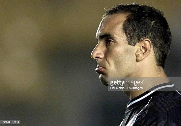 Vasco Da Gama's striker Edmundo looking dejected after he fired his penalty wide to seal victory for Corinthians during their FIFA World Club...