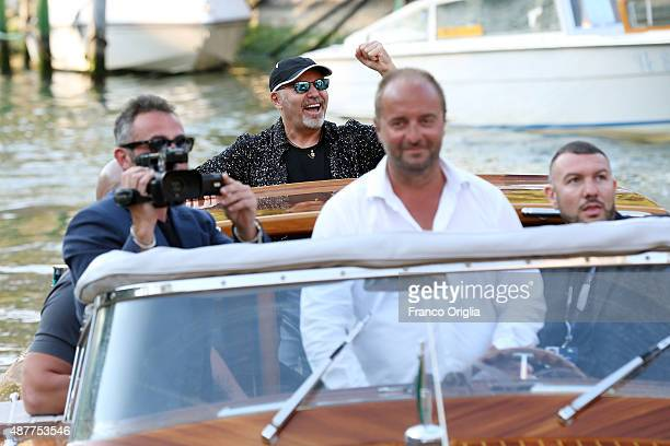 Vasco Rossi and Fabio Masi are seen during the 72nd Venice Film Festival on September 11 2015 in Venice Italy