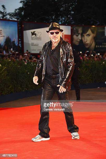 Vasco Rossi attends a premiere for 'Il Decalogo Di Vasco' during the 72nd Venice Film Festival at Palazzo del Casino on September 11 2015 in Venice...
