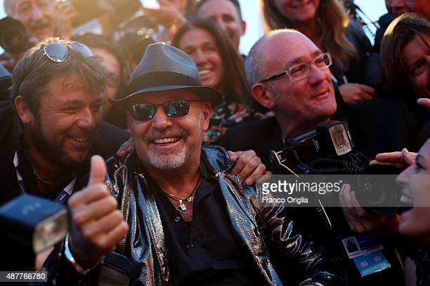 Vasco Rossi attends a premiere for 'Il Decalogo Di Vasco' during the 72nd Venice Film Festival at Sala Grande on September 11 2015 in Venice Italy