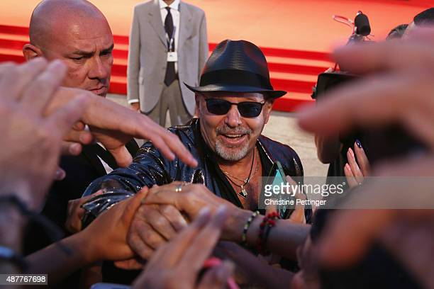 Vasco Rossi attends a premiere for 'Per Amor Vostro' during the 72nd Venice Film Festival at Palazzo del Casino on September 11 2015 in Venice Italy