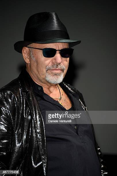 Vasco Rossi attends an encounterconversation with singer Vasco Rossi during the 72nd Venice Film Festival at Palazzo del Casino on September 11 2015...