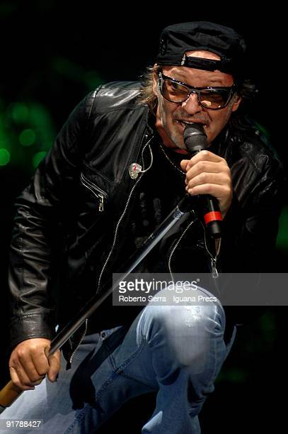 Vasco Rossi perform his opening 'Europe Indoor' tour concert at PalaBam on October 2 2009 in Mantova Italy