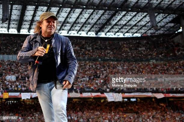Vasco Rossi performs at San Siro stadium on June 07 2008 in Milan Italy