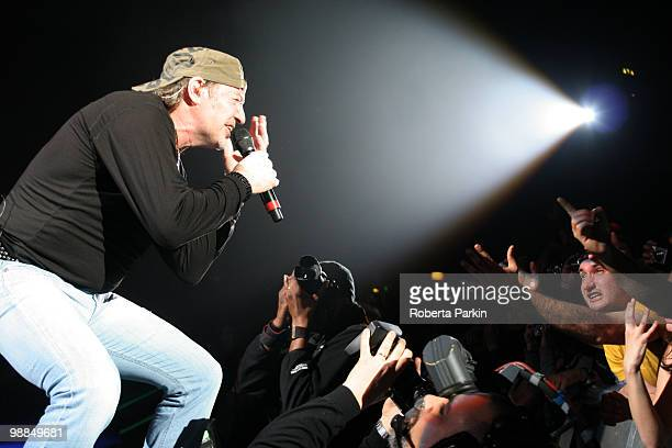 Vasco Rossi performs on stage at Hammersmith Apollo on May 4 2010 in London England