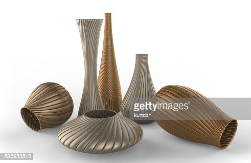 vases  isolated on white : Stock Photo