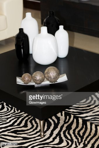 Vases on a table : Foto de stock