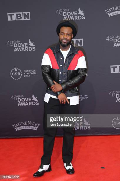 Vashawn Mitchell arrives at the 48th Annual GMA Dove Awards red carpet at Allen Arena on October 17 2017 in Nashville TN