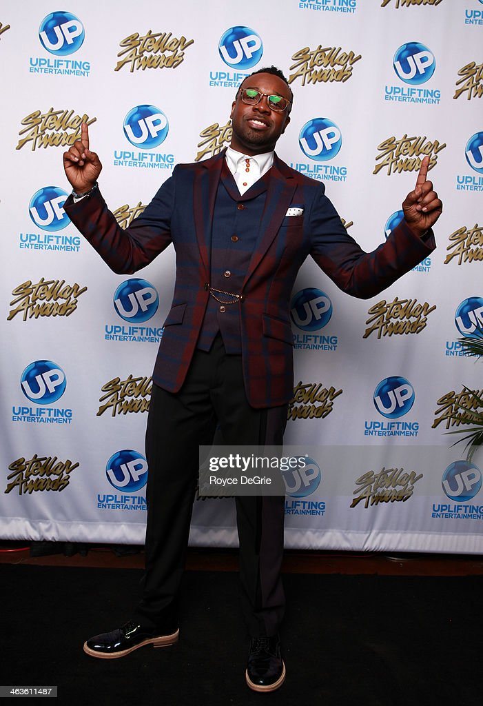 Vashawn Mitchell backstage at the 2014 Stellar Awards at Nashville Municipal Auditorium on January 18, 2014 in Nashville, Tennessee.