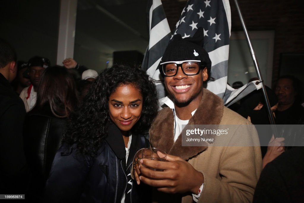 Vashtie Kola and Dee Jackson attend A$AP Rocky's 'LOVE.LIVE.A$AP' Album Release Party at The Hole on January 15, 2013 in New York City.